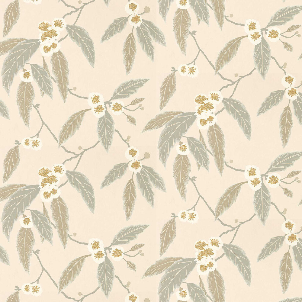 Coppice Wallpaper - Powder/ Truffle/ Gilver - by Harlequin