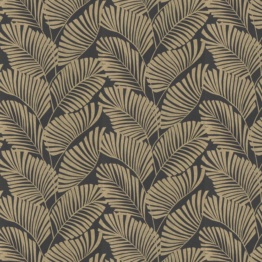 Mala Wallpaper - Ebony - by Harlequin