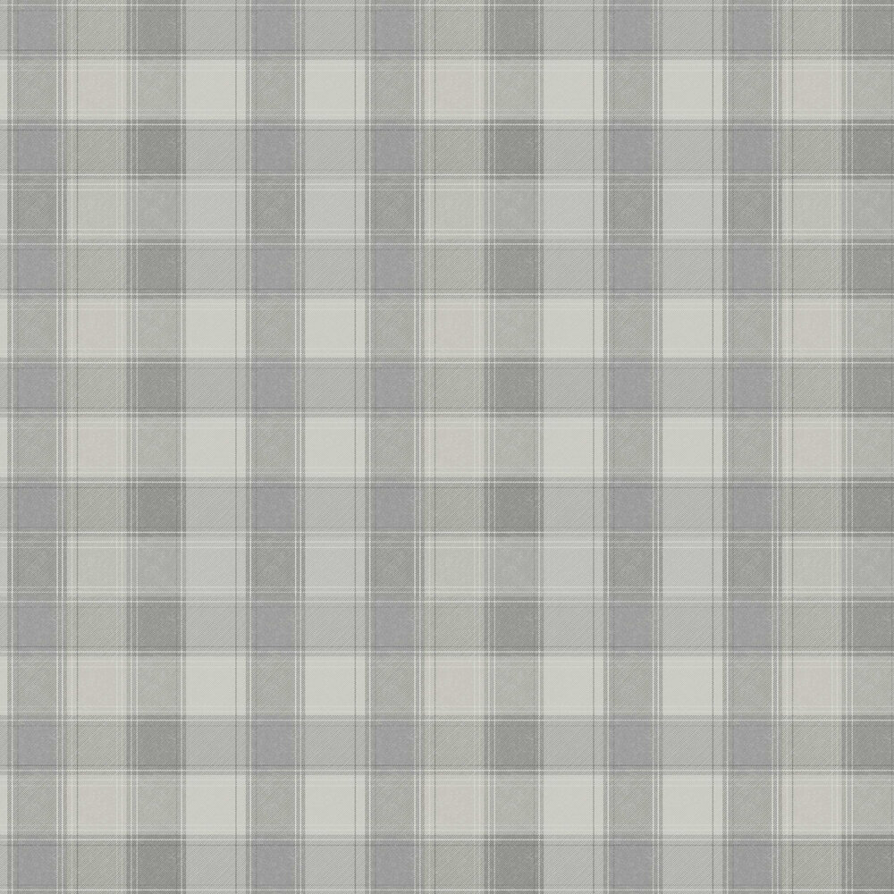 Urban Check Wallpaper - Grey - by Arthouse