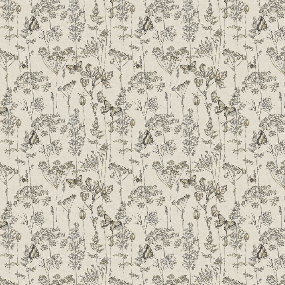 Meadow Floral Wallpaper - Charcoal - by Arthouse
