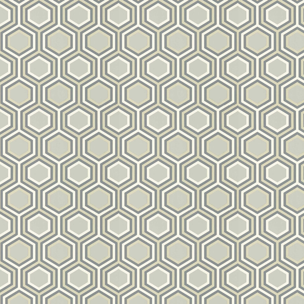 Selo Wallpaper - Slate and Platinum - by Harlequin