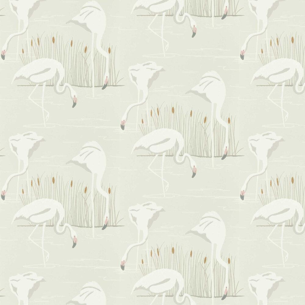 Salinas Wallpaper - Cloud/ Blossom/ Gold - by Harlequin