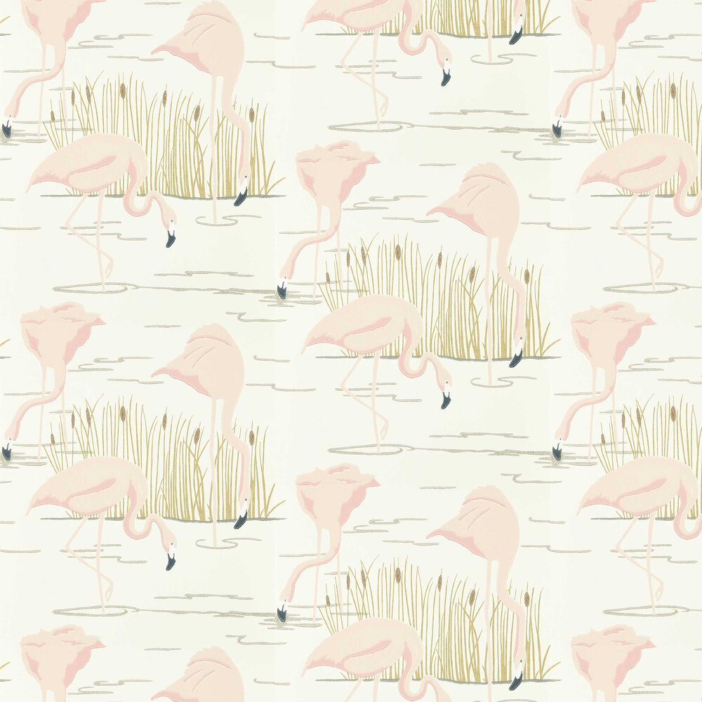 Salinas Wallpaper - Champagne/ Rose/ Gold - by Harlequin