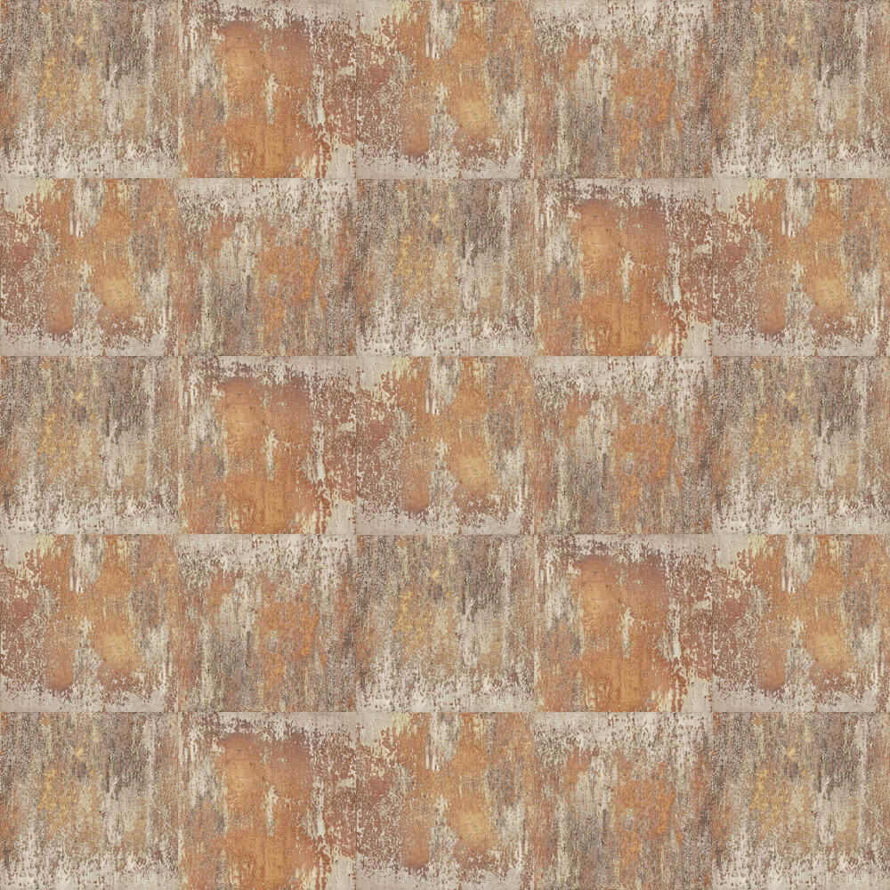 Metal Wall Wallpaper - Copper - by Albany