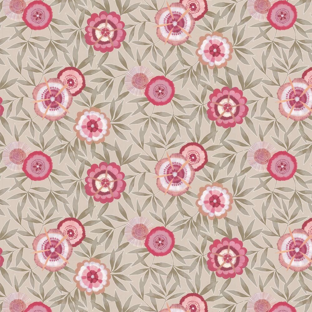 Komovi Wallpaper - Azalea/ Gilver - by Harlequin