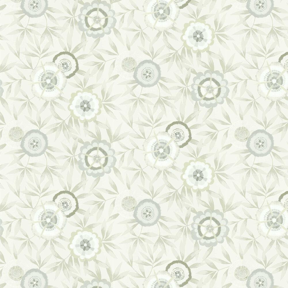 Komovi Wallpaper - Dove/ Linen - by Harlequin