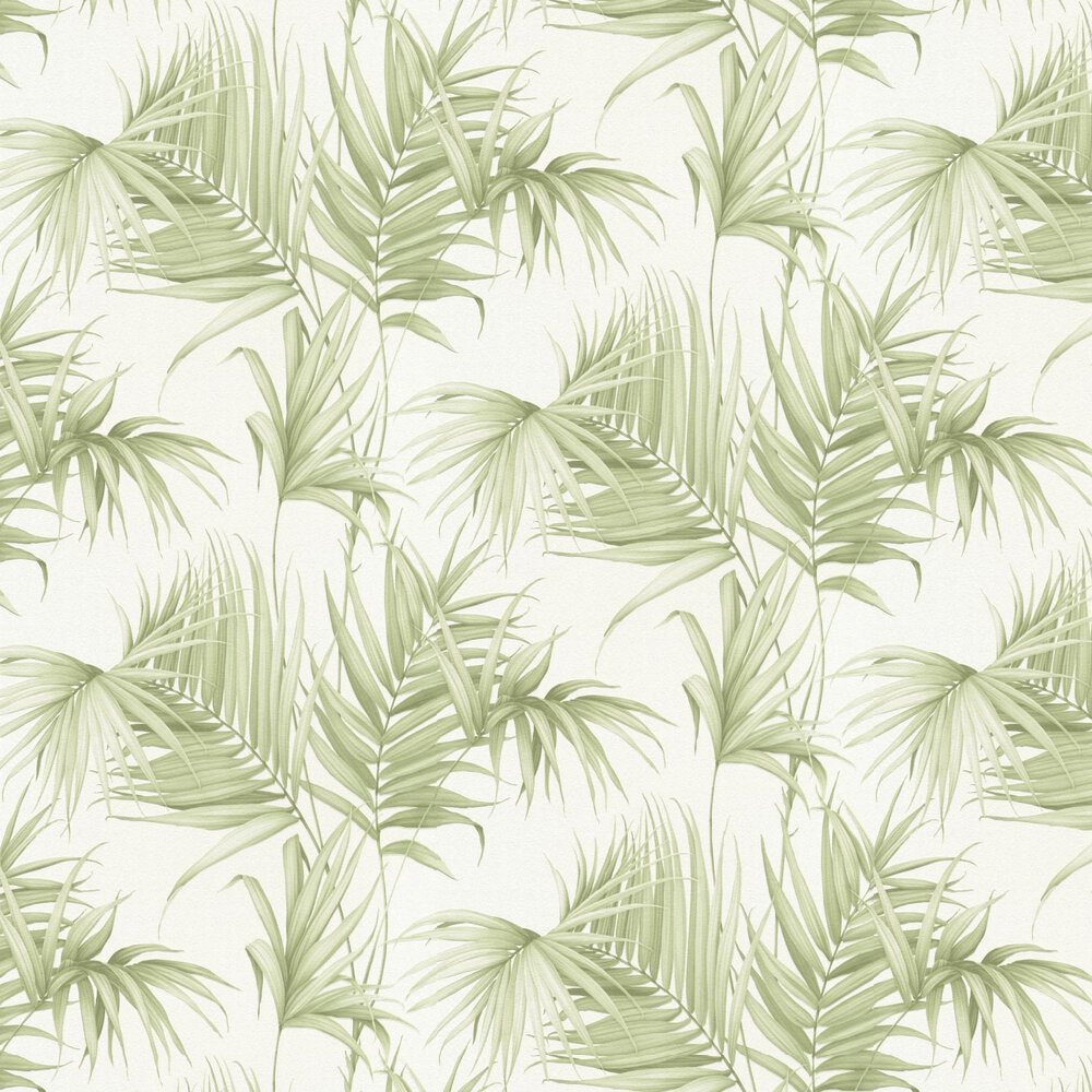 Palm Leaf Wallpaper - Green - by Albany