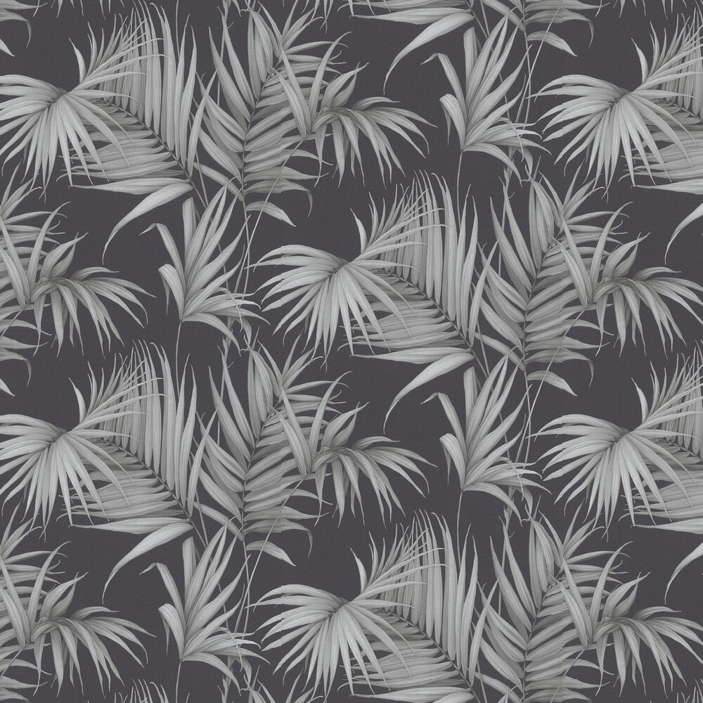 Albany Palm Leaf Charcoal Wallpaper - Product code: 36505-3