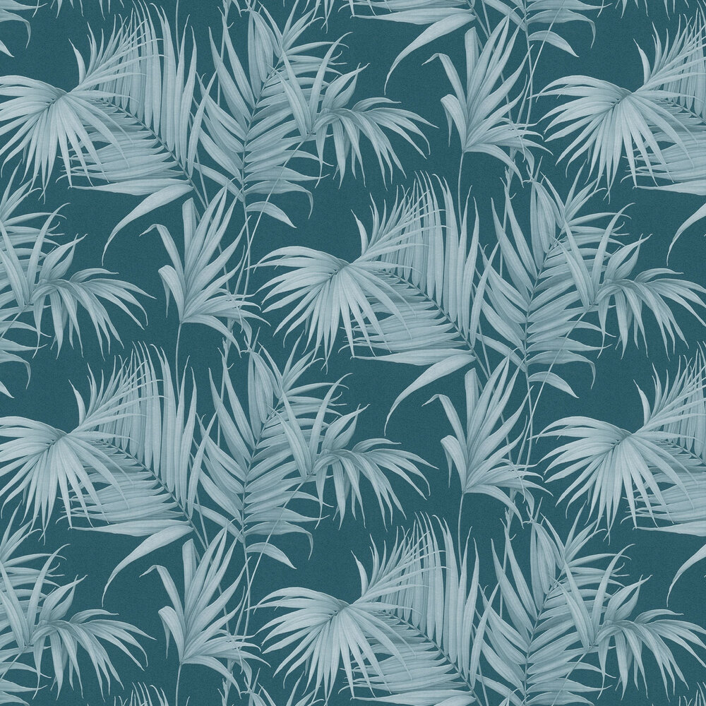 Albany Palm Leaf Teal Wallpaper - Product code: 36505-5