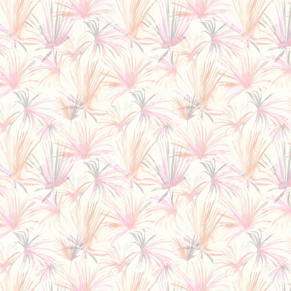 Jungle Fiesta Wallpaper - Pink / Grey - by Albany