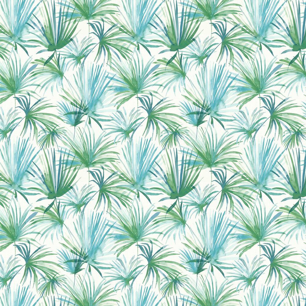 Albany Jungle Fiesta Blue / Green Wallpaper - Product code: 36624-2