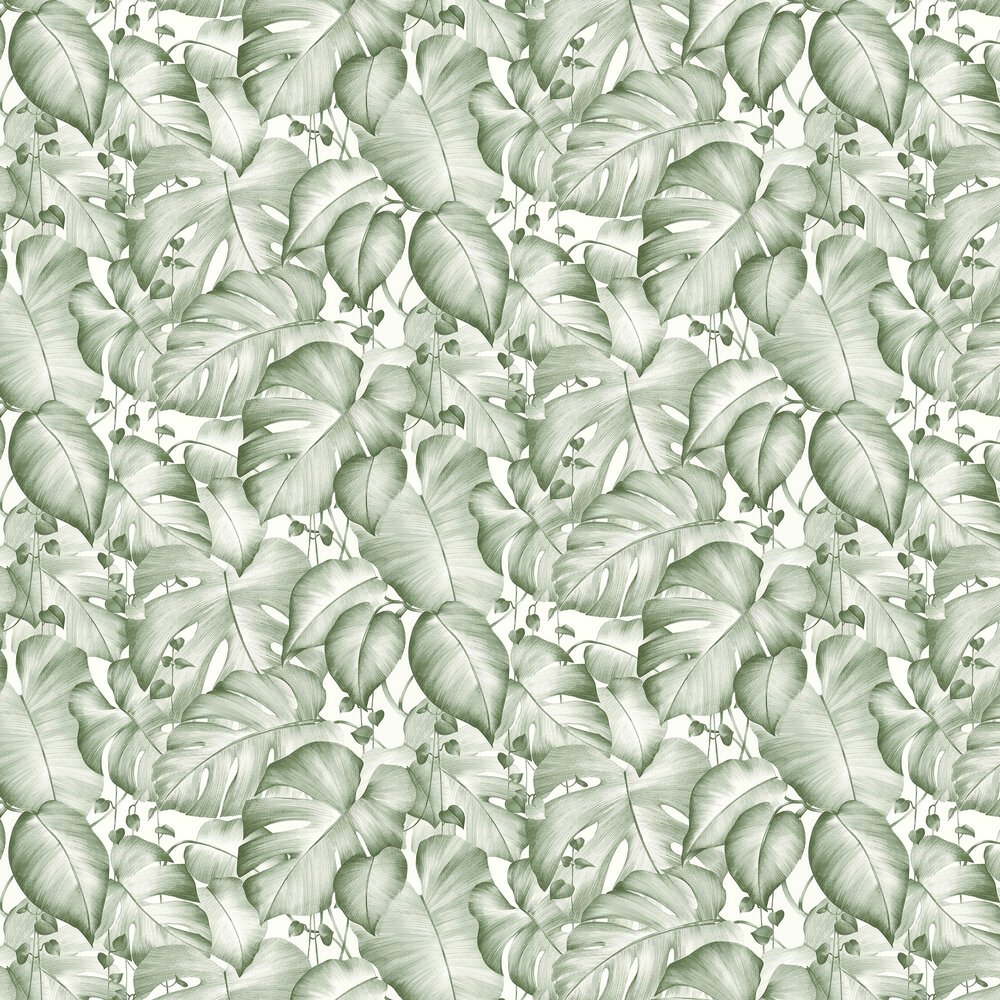 Jungle Trailing Wallpaper - Green - by Albany