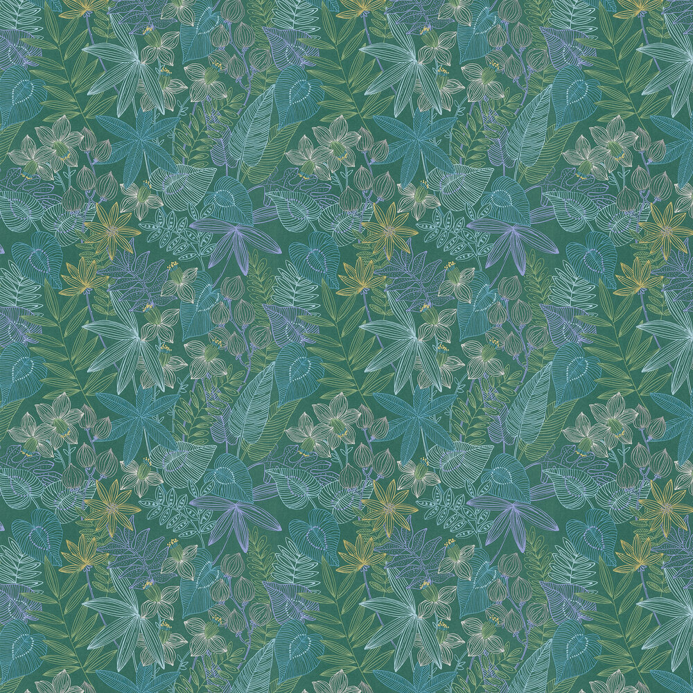 Albany Exotic Leaves Green Wallpaper - Product code: 36630-2