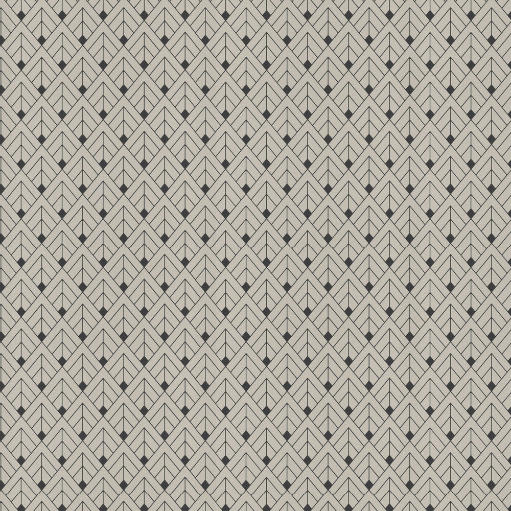 Gatsby Wallpaper - Grey - by Albany