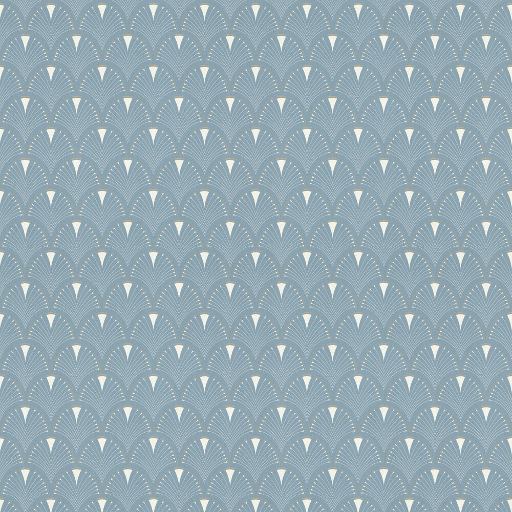 Deco Arch Wallpaper - Light Blue - by Albany