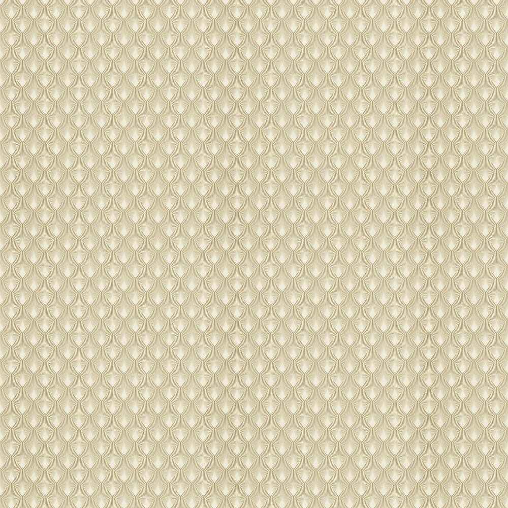 Deco Sun Wallpaper - Gold - by Albany