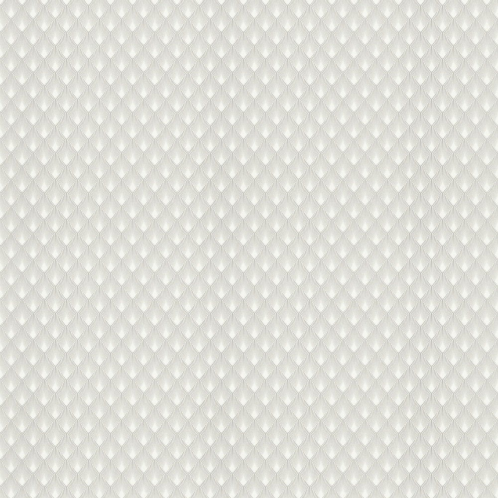 Deco Sun Wallpaper - Grey - by Albany