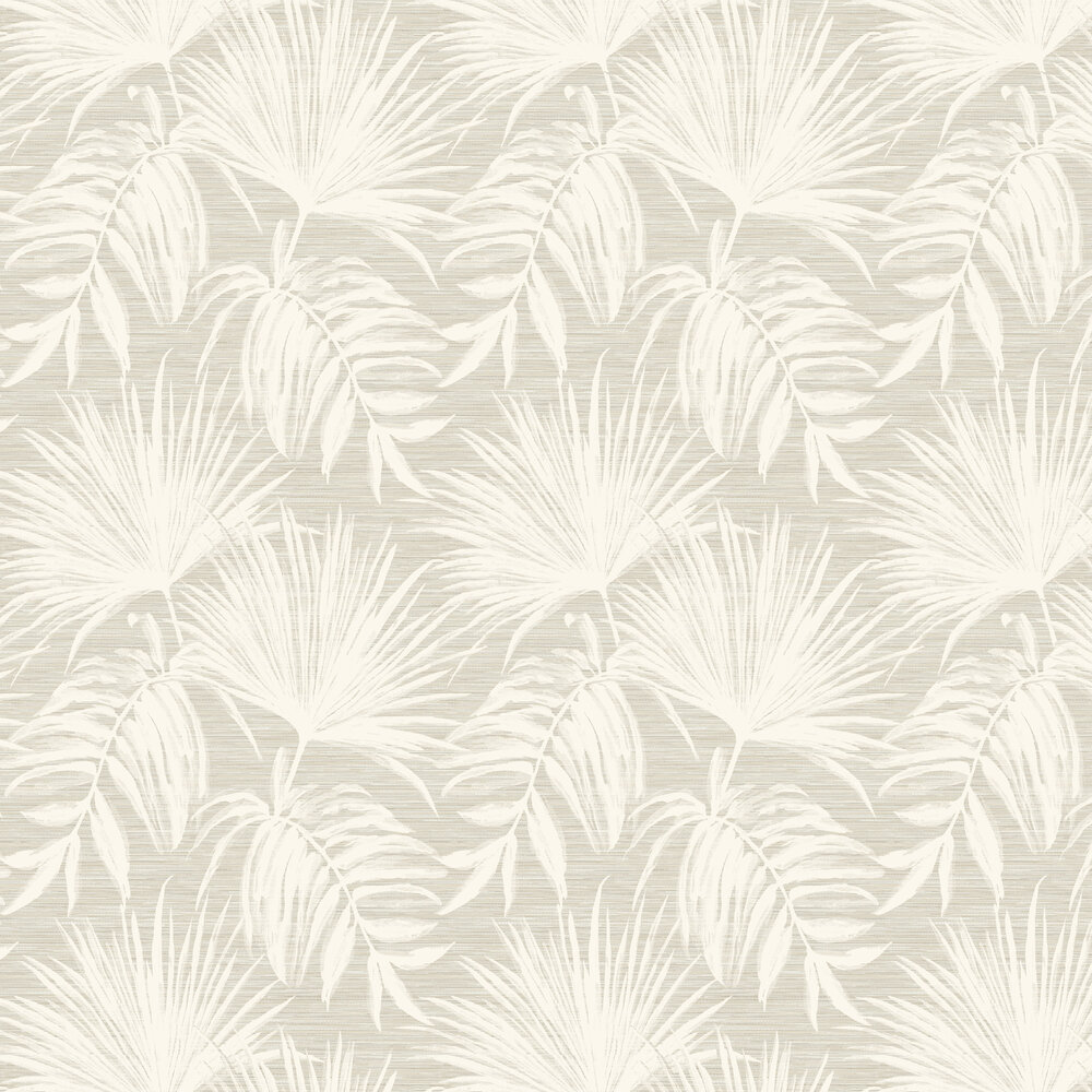 Bambara Leaf Wallpaper - Bambara Leaf Taupe - by Albany