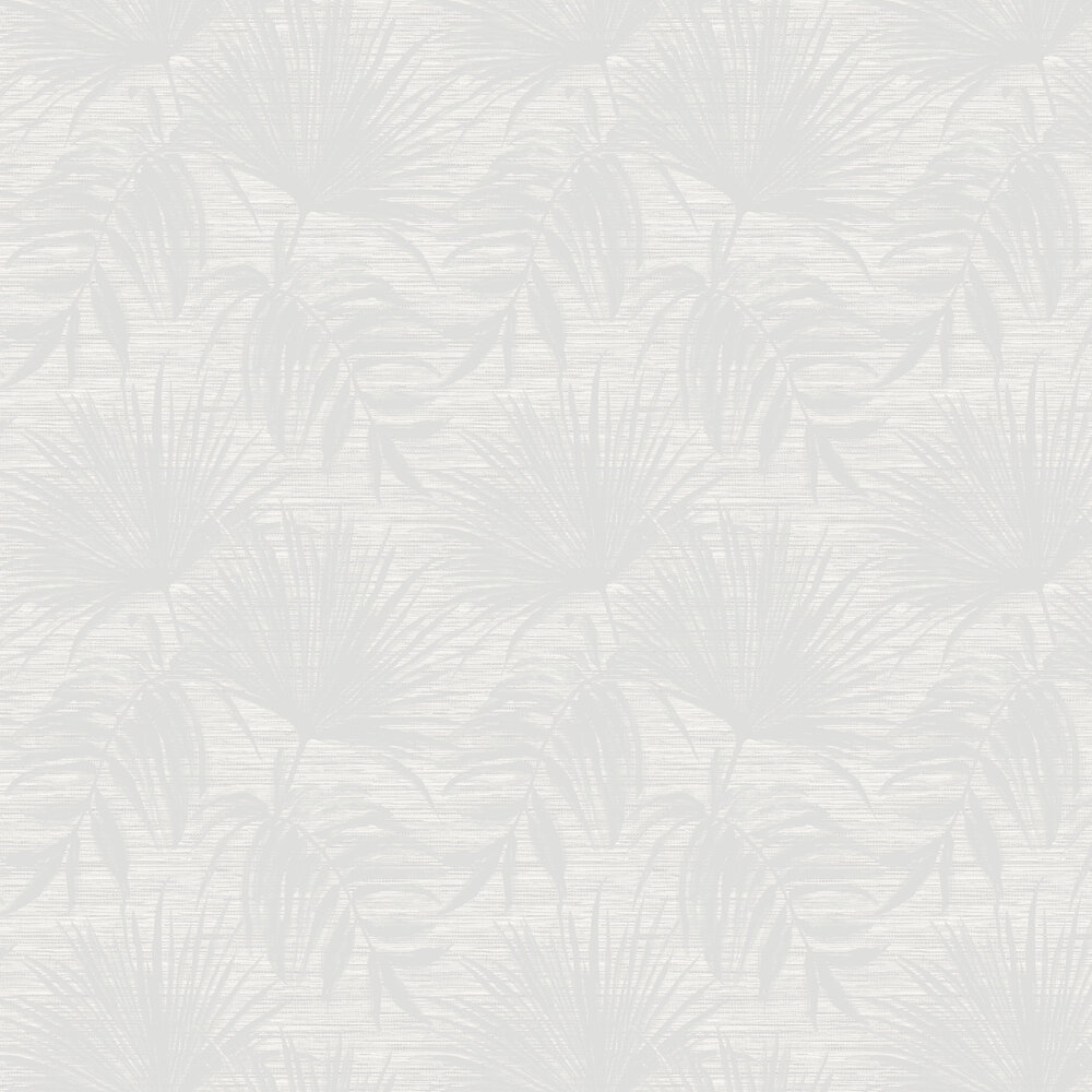 Bambara Leaf Wallpaper - Bambara Leaf White - by Albany