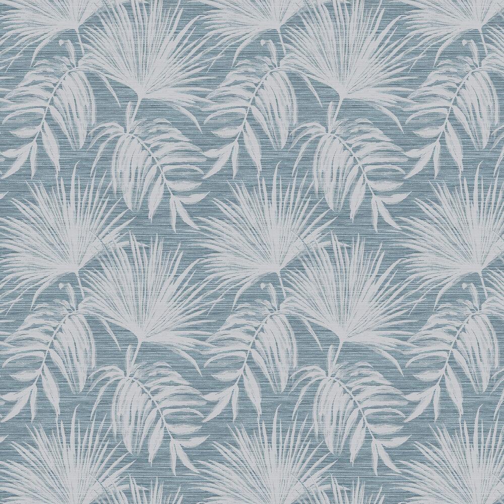 Bambara Leaf Wallpaper - Bambara Leaf Teal - by Albany