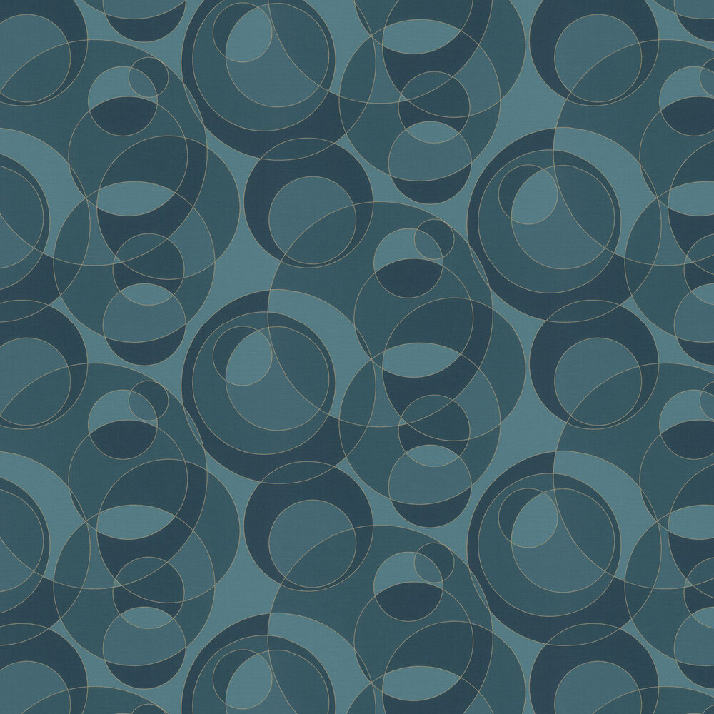 Orbit Wallpaper - Blue - by Albany
