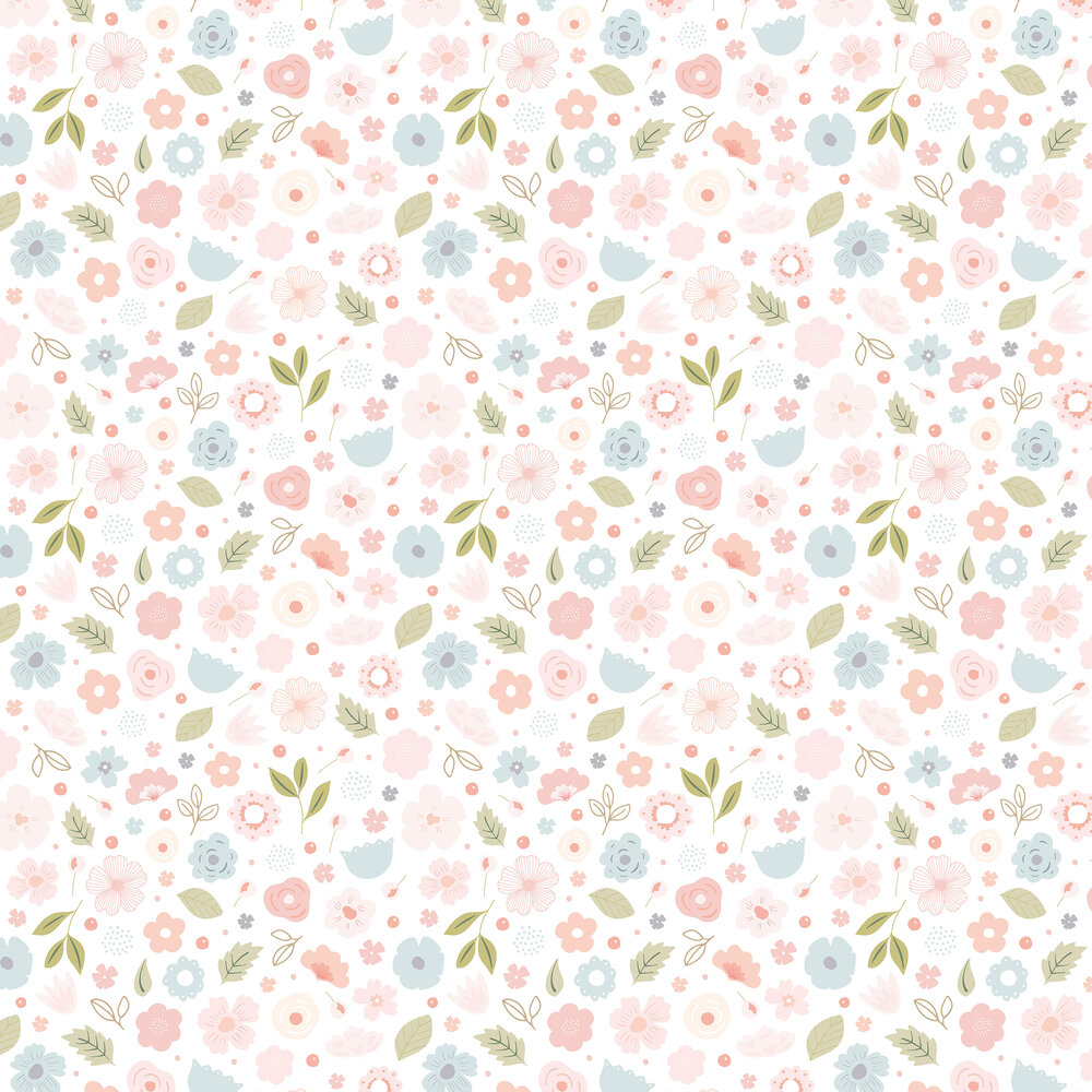 Flowers Bloom Wallpaper - Pink - by Lilipinso