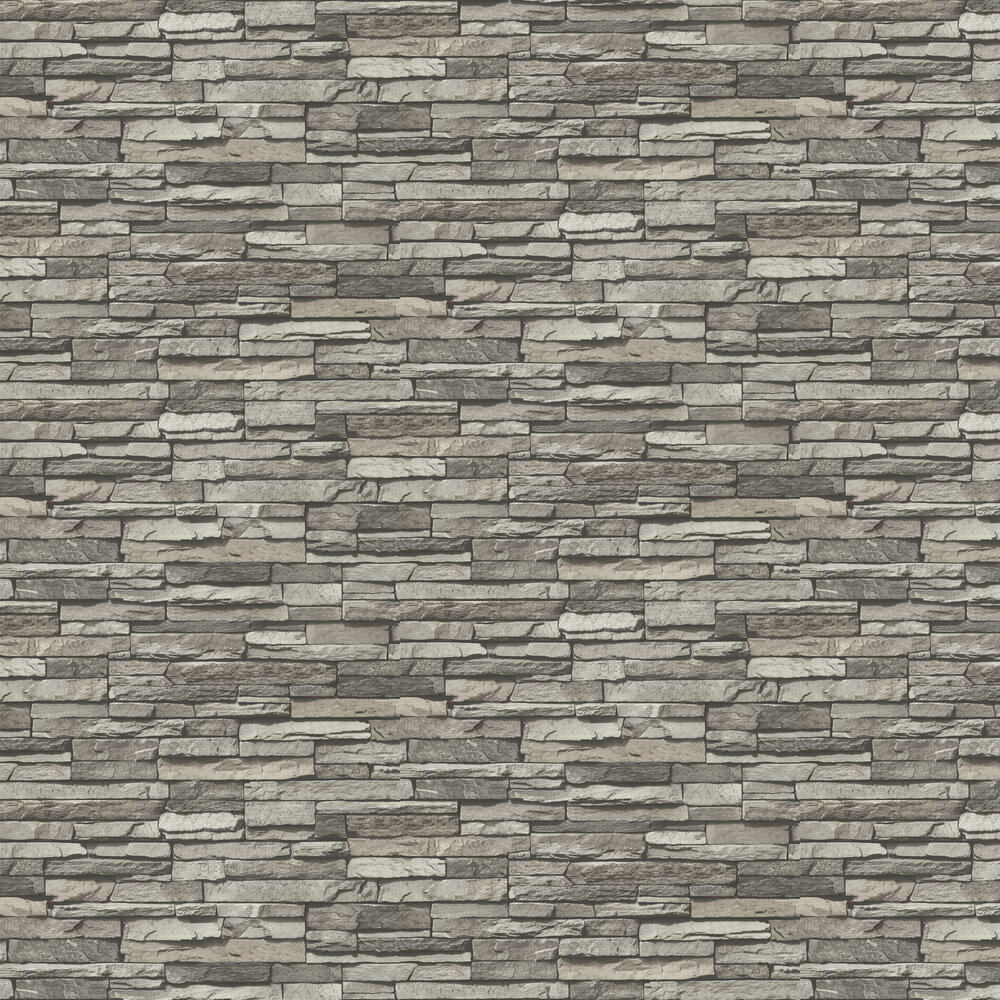 Slate Wall Wallpaper - Grey - by Albany
