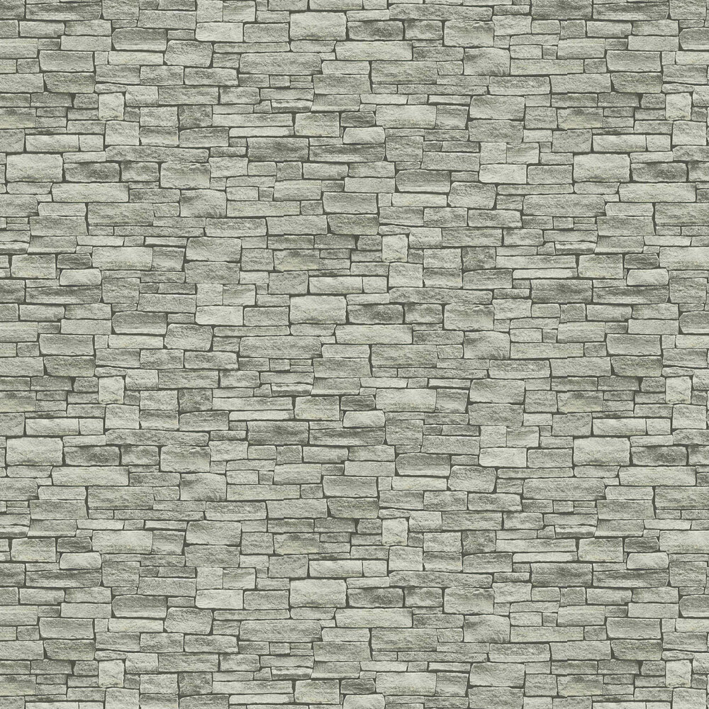 Rustic Granite Wallpaper - Grey - by Albany