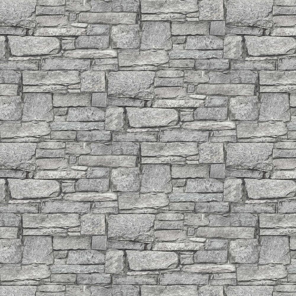 Granite Wall Wallpaper - Grey - by Albany