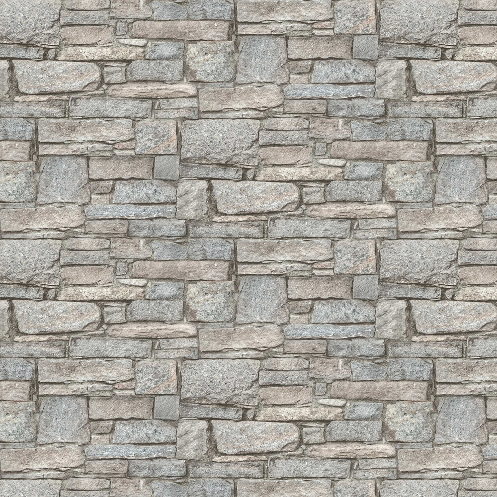Albany Granite Wall Grey Wallpaper - Product code: PP3902