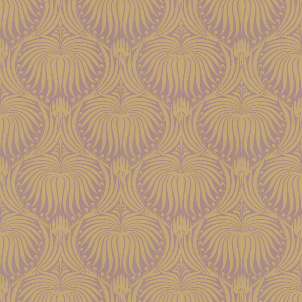 Lotus Wallpaper - Pink / Gold - by Farrow & Ball