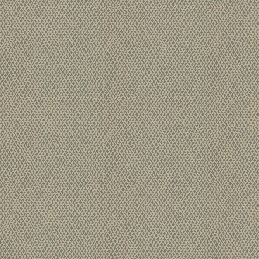 Amime  Wallpaper - Green / Gilver - by Farrow & Ball