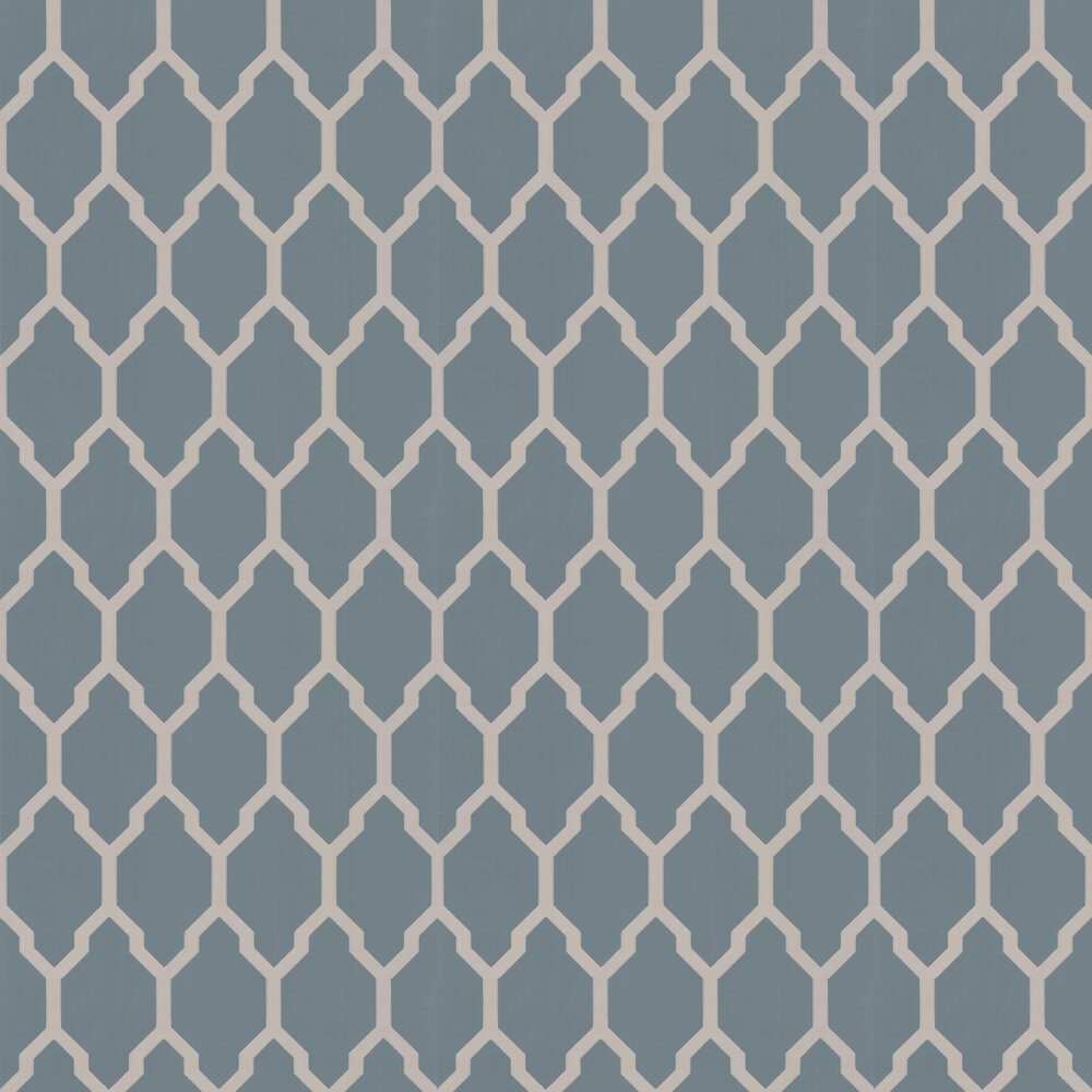 Farrow & Ball Tessella Blue / Silver Wallpaper - Product code: BP 3614