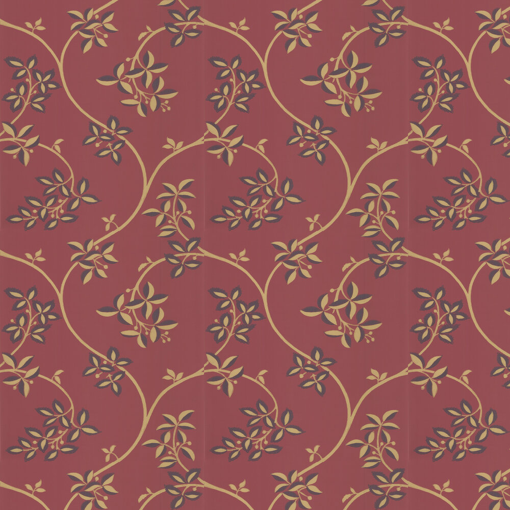Farrow & Ball Ringwold Red / Gold Wallpaper - Product code: BP 1653
