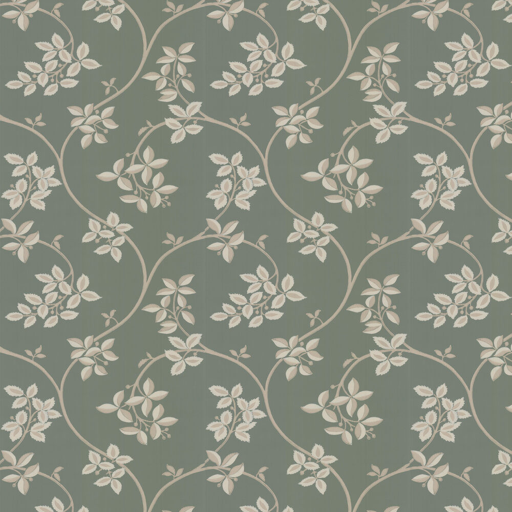Ringwold Wallpaper - Green / Gilver - by Farrow & Ball
