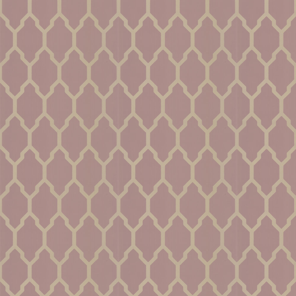 Tessella Wallpaper - Pink / Gilver - by Farrow & Ball
