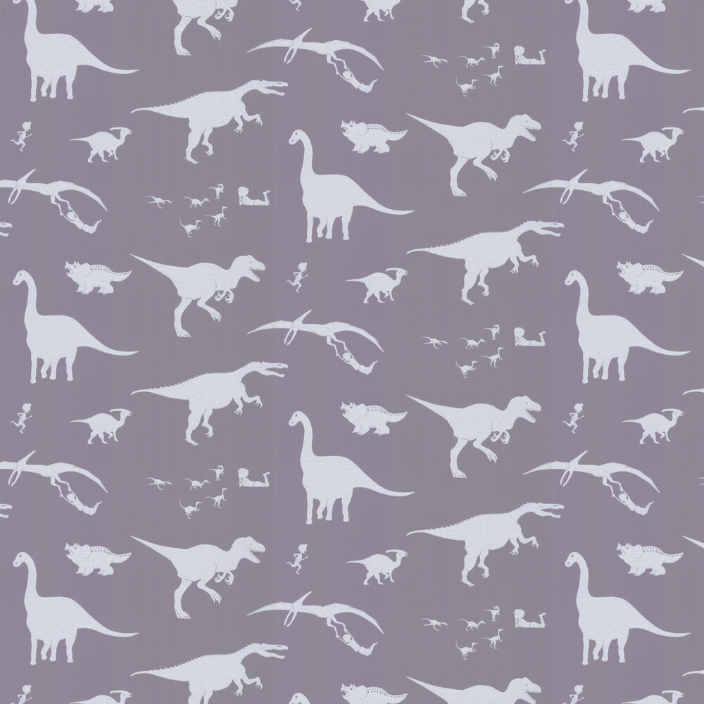 PaperBoy D'ya-think-e-saurus Warm Grey Wallpaper - Product code: DYTESU/WP/WG