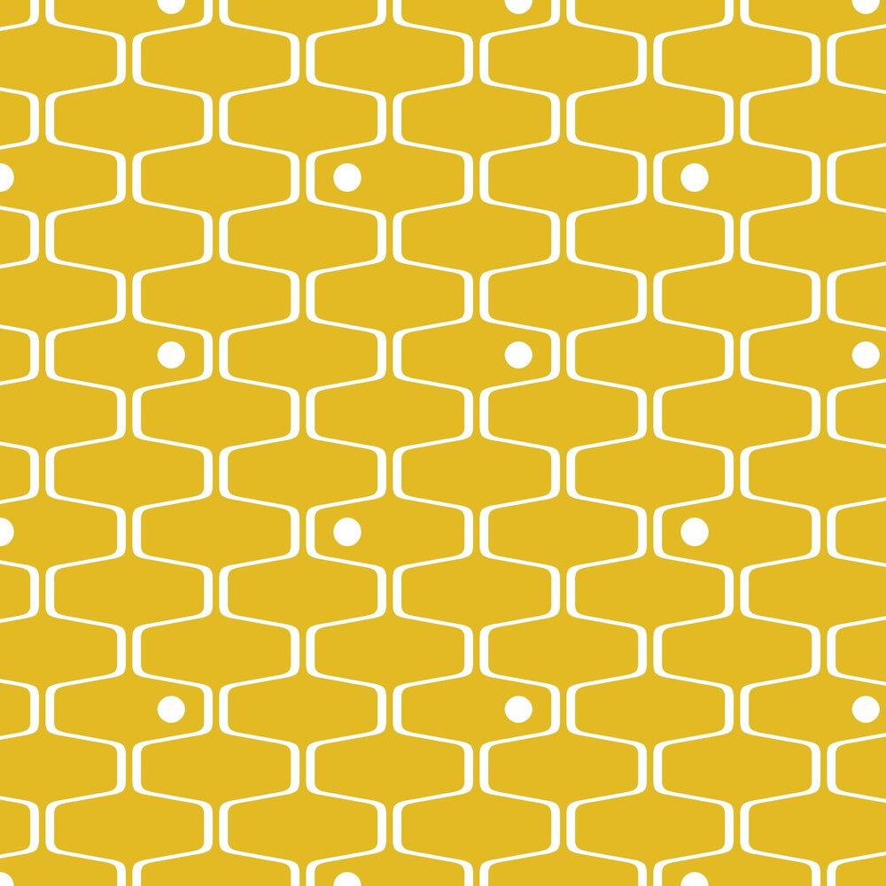 Mini Moderns Net & Ball Mustard Wallpaper - Product code: AZDPT038MU