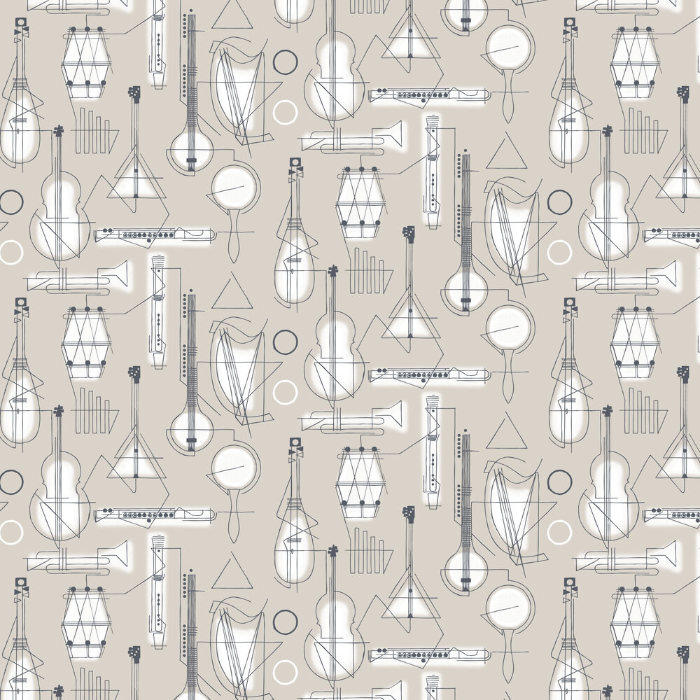 Concert Wallpaper - Stone - by Mini Moderns