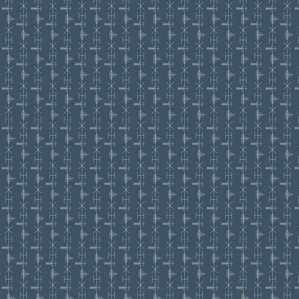 Mini Moderns Transmission Washed Denim Wallpaper - Product code: AZDPT040WD