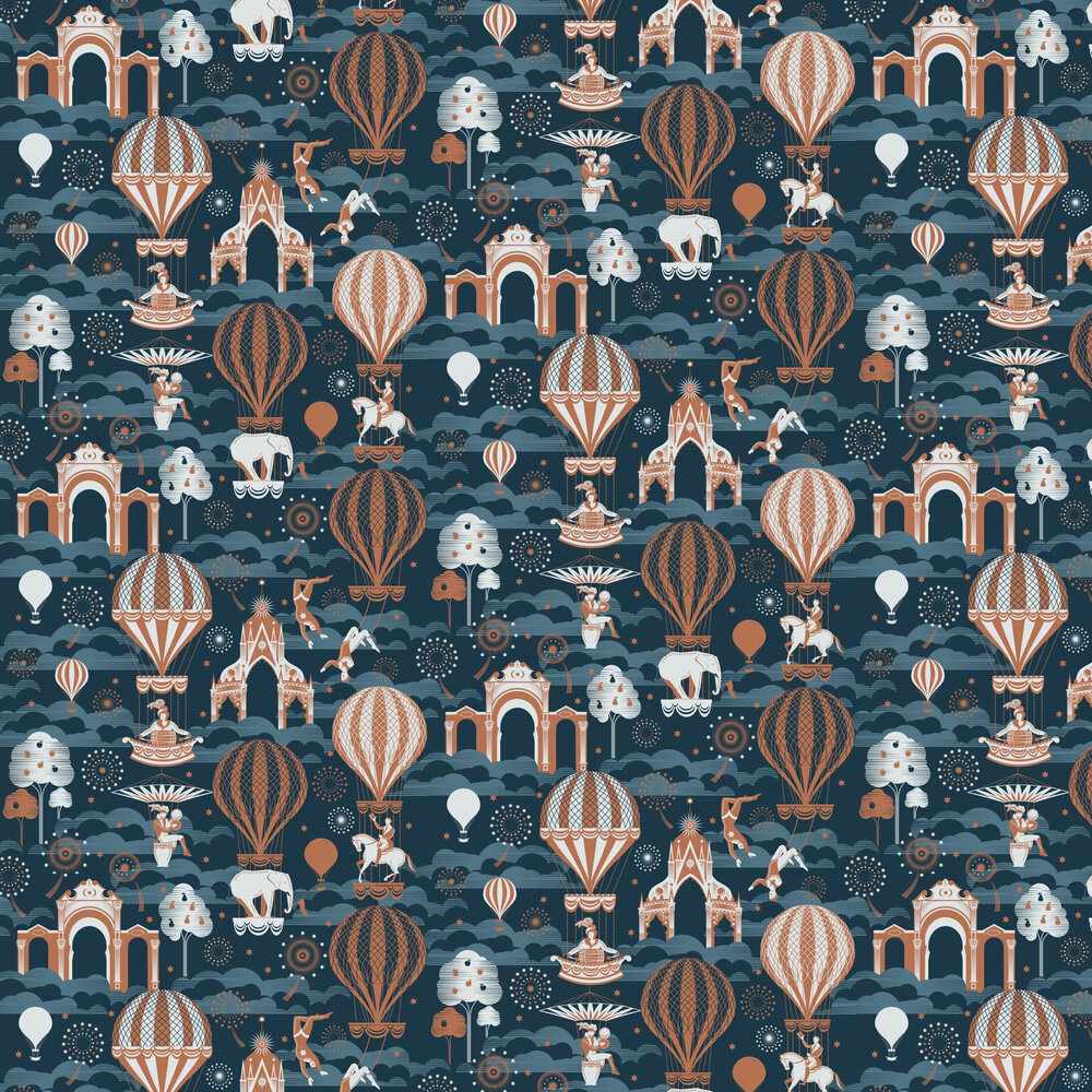 Mini Moderns Pleasure Gardens Midnight / Copper Wallpaper - Product code: AZDPT042MI