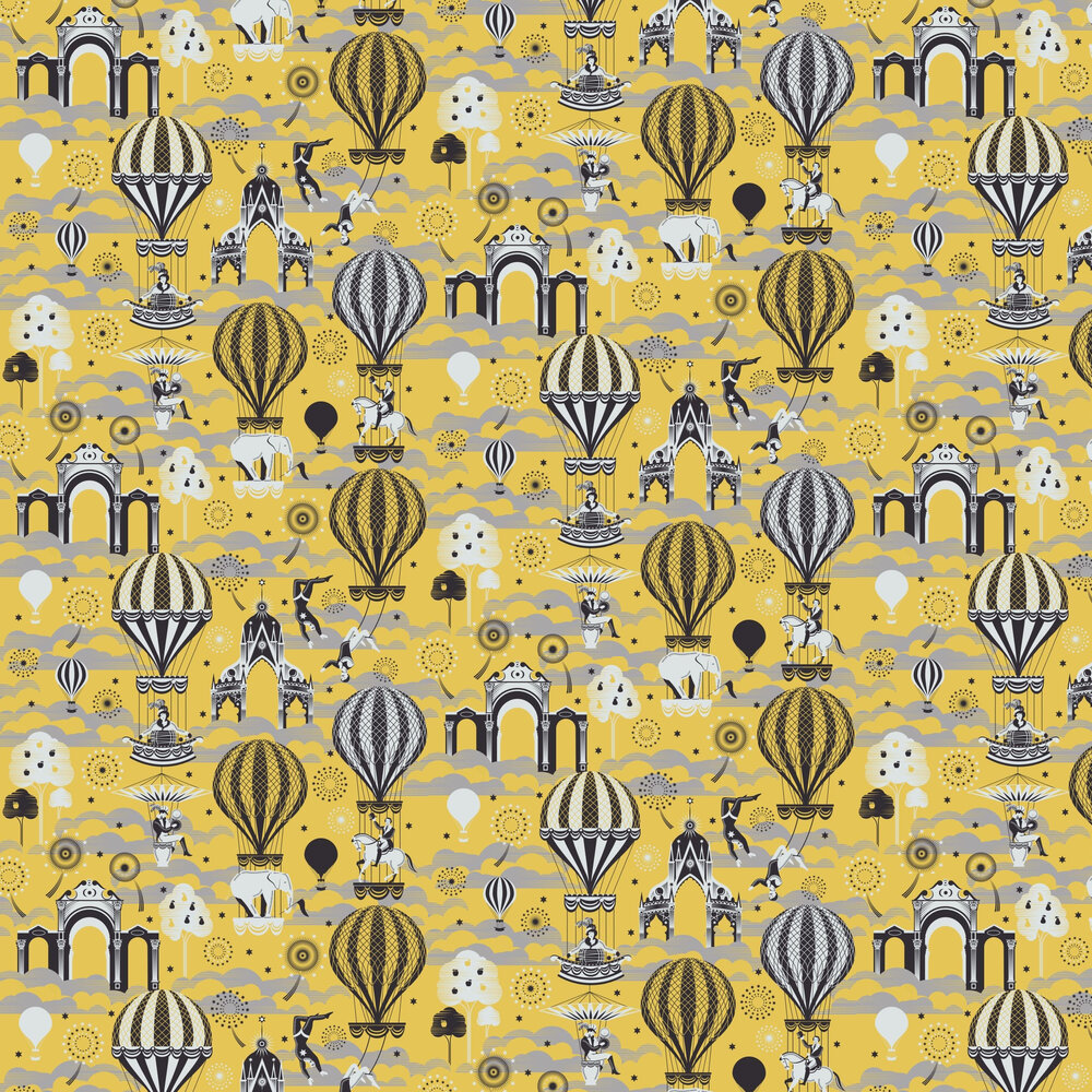 Mini Moderns Pleasure Gardens Mustard / Silver Wallpaper - Product code: AZDPT042MU