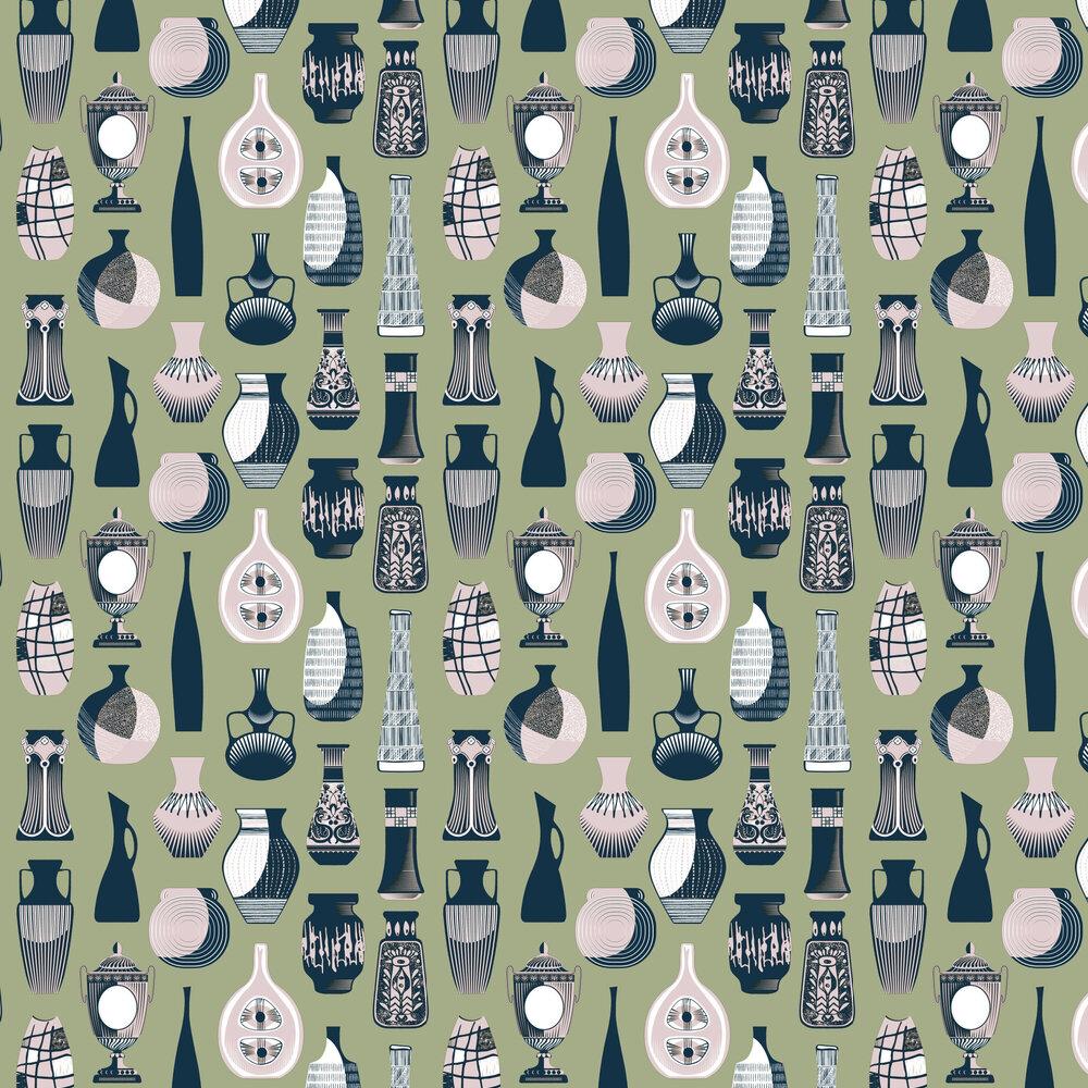 Vessel Wallpaper - British Lichen - by Mini Moderns