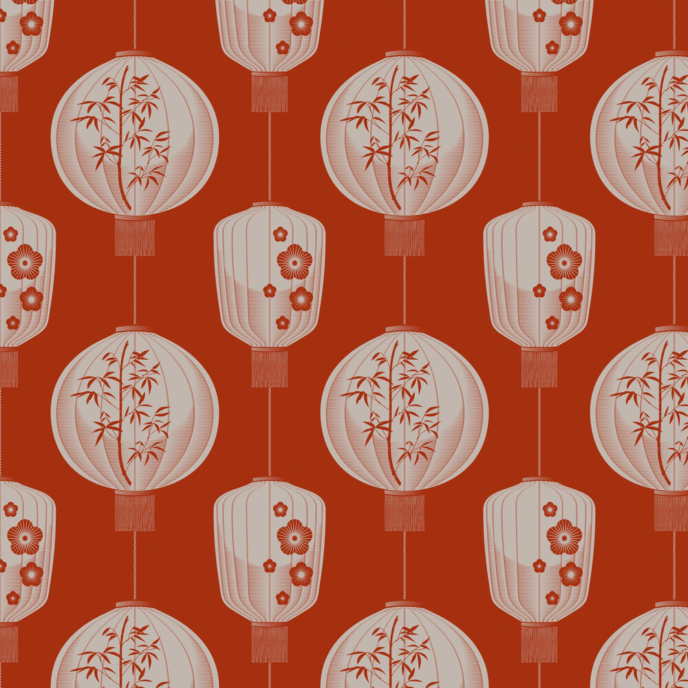 Mini Moderns Lucky Lantern Harvest Orange Wallpaper - Product code: AZDPT045HO