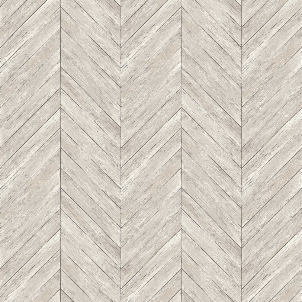 ZigZag Decking Wallpaper - Silver Grey - by Albany