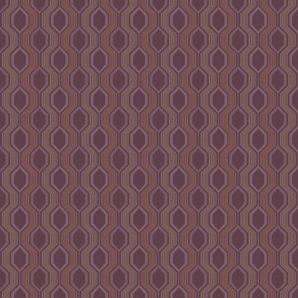 Arthouse Hexagon Plum Wallpaper - Product code: 904903