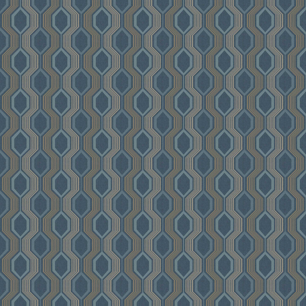 Arthouse Hexagon Petrol Blue Wallpaper - Product code: 904905