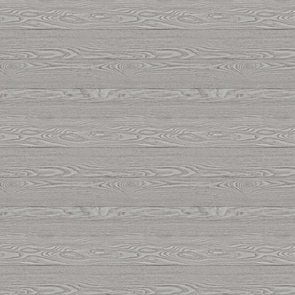 Horizon Plank Wallpaper - Grey - by Albany