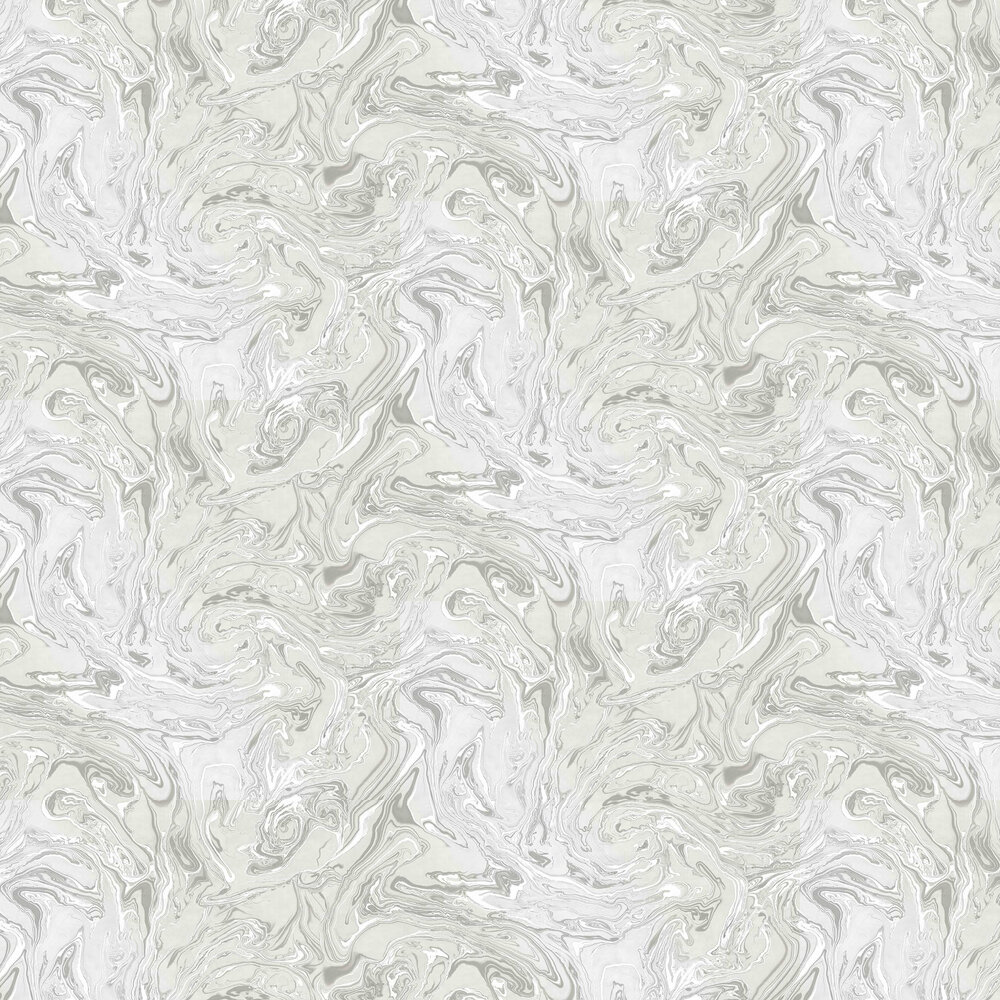 Marbling Wallpaper - Silver - by Albany