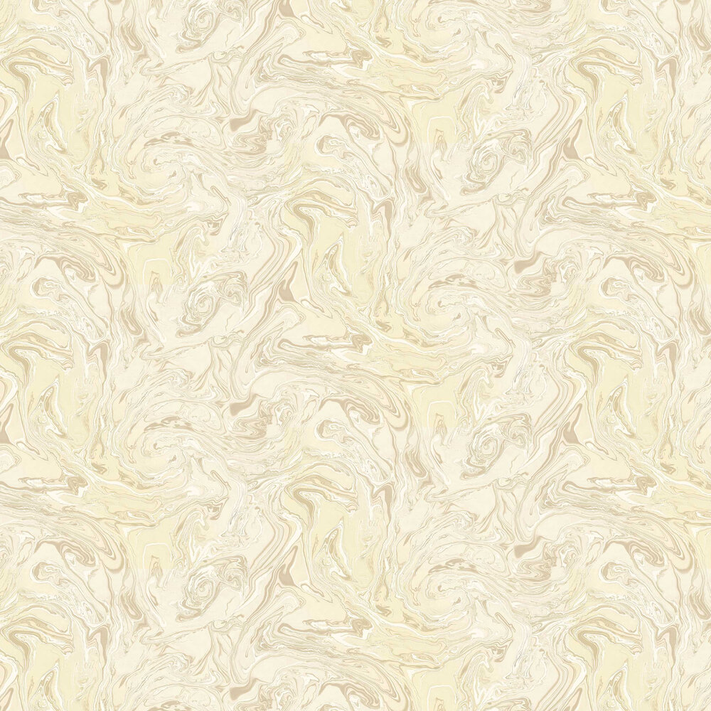 Marbling Wallpaper - Cream - by Albany